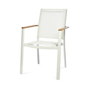 Stuhl mit Armlehnen Rainbow, B:58cm x H:91cm, weiß