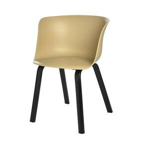 Schalenstuhl, 50,5x55x79cm, beige