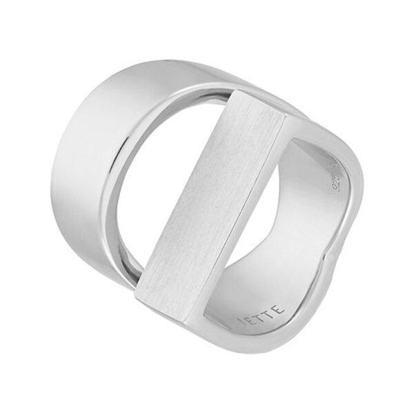 JETTE Silver Damenring Opposites 86623161