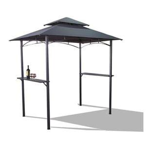 BBQ Grill-Pavillon mit 2 Ablageflächen Anthrazit