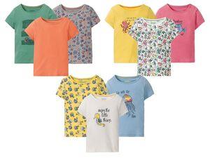 LUPILU® Kleinkinder T-Shirts Mädchen, 3 Stück, mit Baumwolle