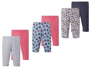 LUPILU® Kleinkinder Leggings Mädchen, 2 Stück, Gummizug im Taillenbund, mit Baumwolle