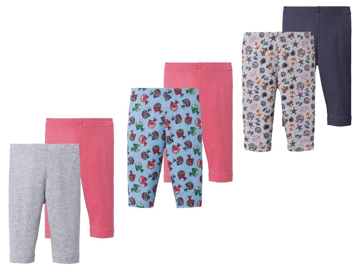 Bild 1 von LUPILU® Kleinkinder Leggings Mädchen, 2 Stück, Gummizug im Taillenbund, mit Baumwolle