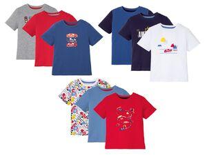 LUPILU® Kleinkinder T-Shirts Jungen, 3 Stück, mit Print,  mit Baumwolle