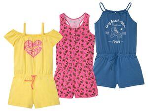PEPPERTS® Jumpsuit Mädchen, Gummizug im Taillenbund, mit Baumwolle und Elasthan