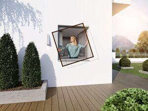 wip Insektenschutz für Fenster, Aluminium, ohne Bohren, 100 x 120 cm