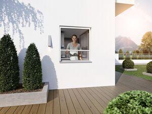 wip Insektenschutz Plissee für Fenster, extra dünne Aluminium-Profile, B 130 x H 150 cm