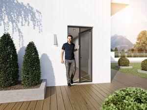 wip Insektenschutz Plissee für Türen, mit sehr flacher Bodenschiene, B 120 x H 240