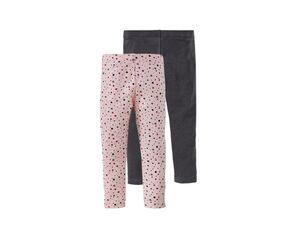 LUPILU® Leggings Kleinkinder Mädchen, 2 Stück, mit Elasthan und Baumwolle