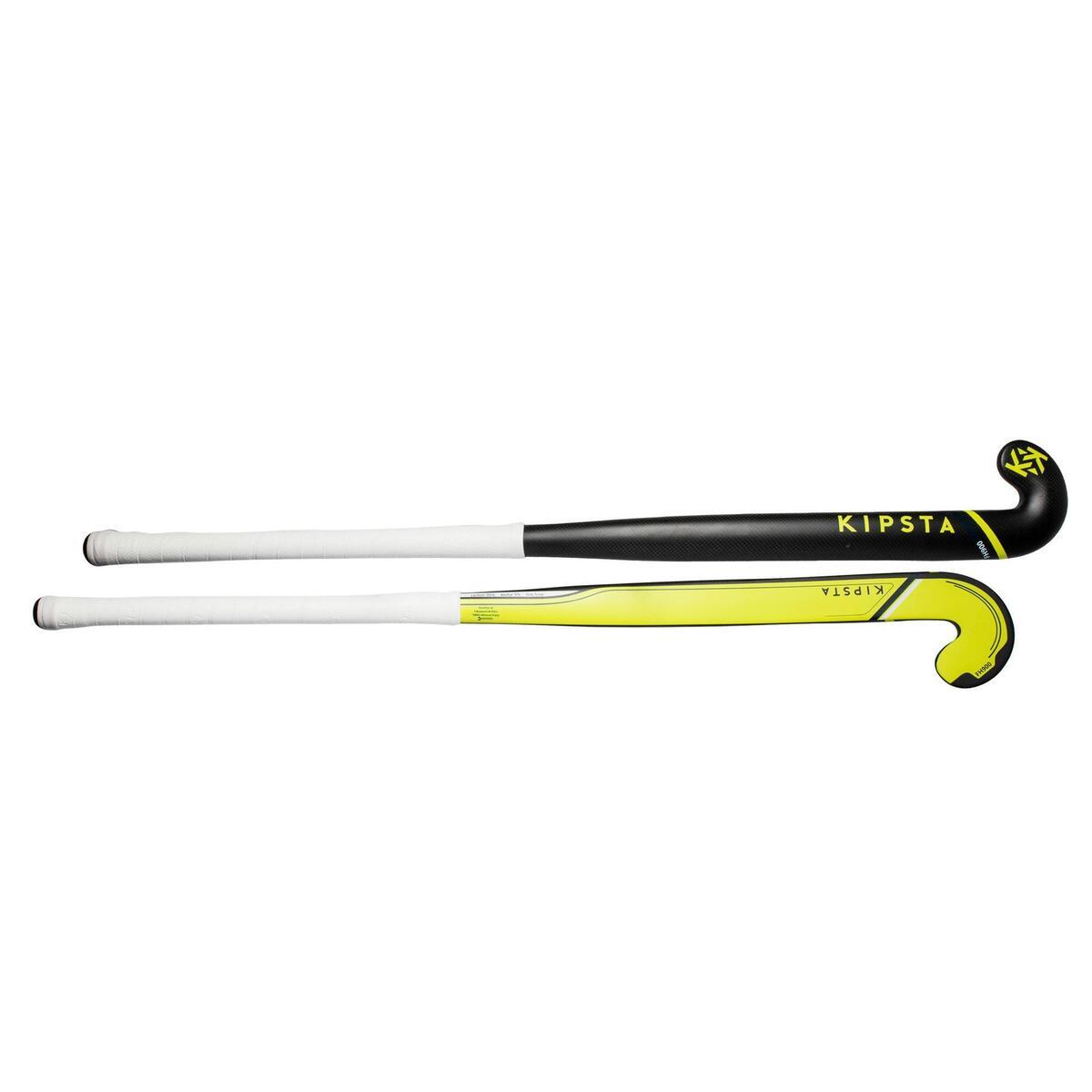 Bild 2 von Feldhockeyschläger FH900 Erwachsene Low Bow 95% Carbon gelb