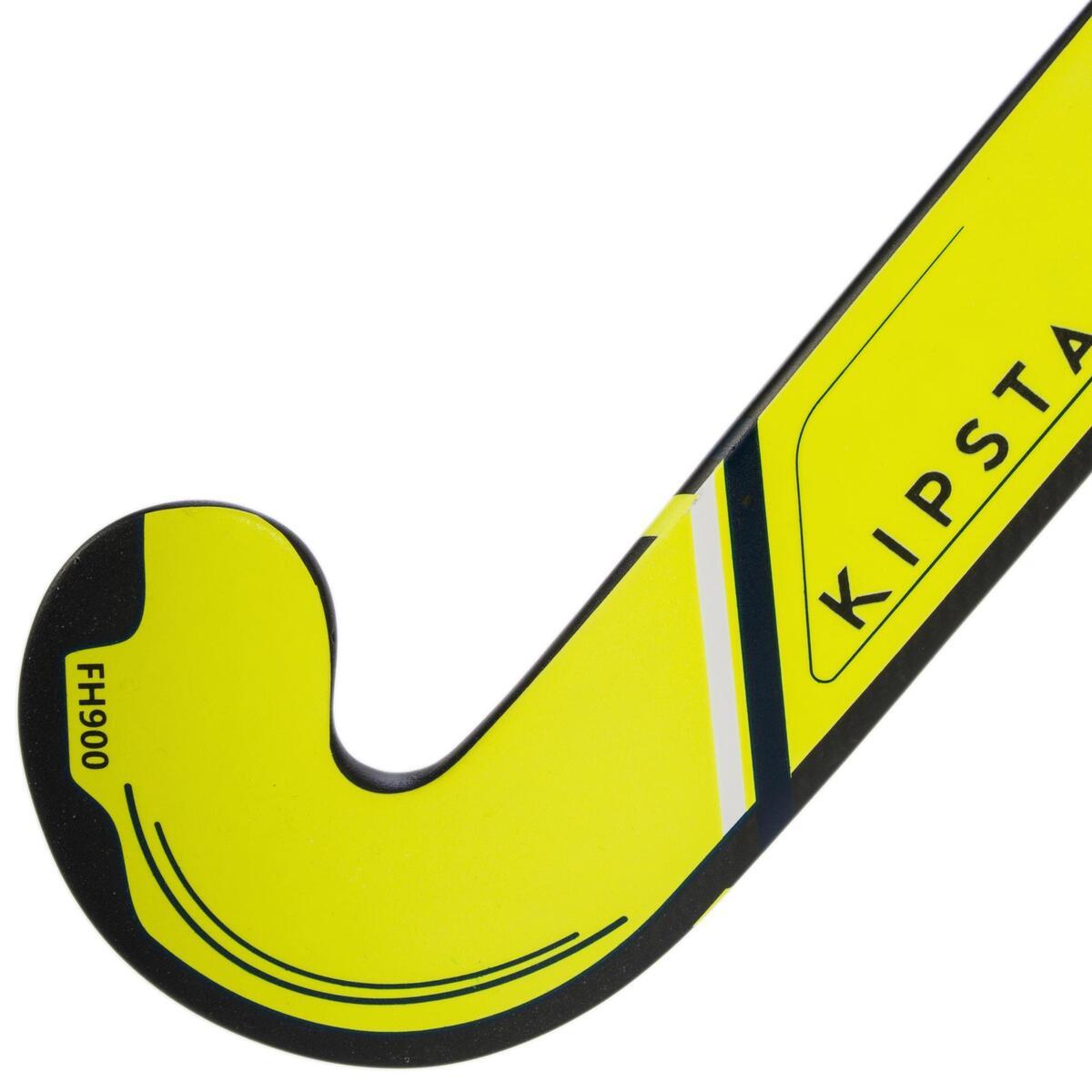 Bild 5 von Feldhockeyschläger FH900 Erwachsene Low Bow 95% Carbon gelb
