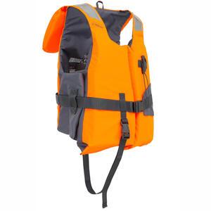 Rettungsweste Schaumstoff LJ 100N Easy Segeln Erwachsene orange/grau