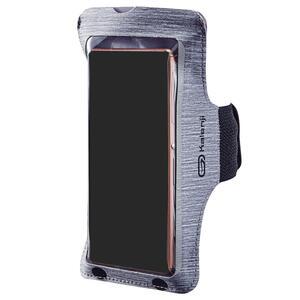 Laufarmband für große Smartphones grau