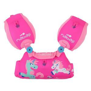 Schwimmflügel-Gurt Tiswim Kinder 15–30kg Druckmotiv Einhorn rosa