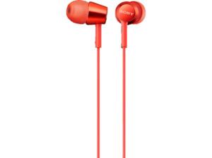 SONY MDR-EX155AP Kopfhörer Rot (Stecker: L-förmiger 4-poliger Mini-Stecker mit vergoldeten Kontakten)