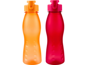 CULINARIO 054459 Fliptop Frosty Trinkflasche in Orange/Rot