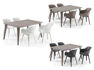 Allibert Lounge Set »Akola-Lima«, 5-teilig, mit 4 Stühlen, 1 Tisch, cappuchino