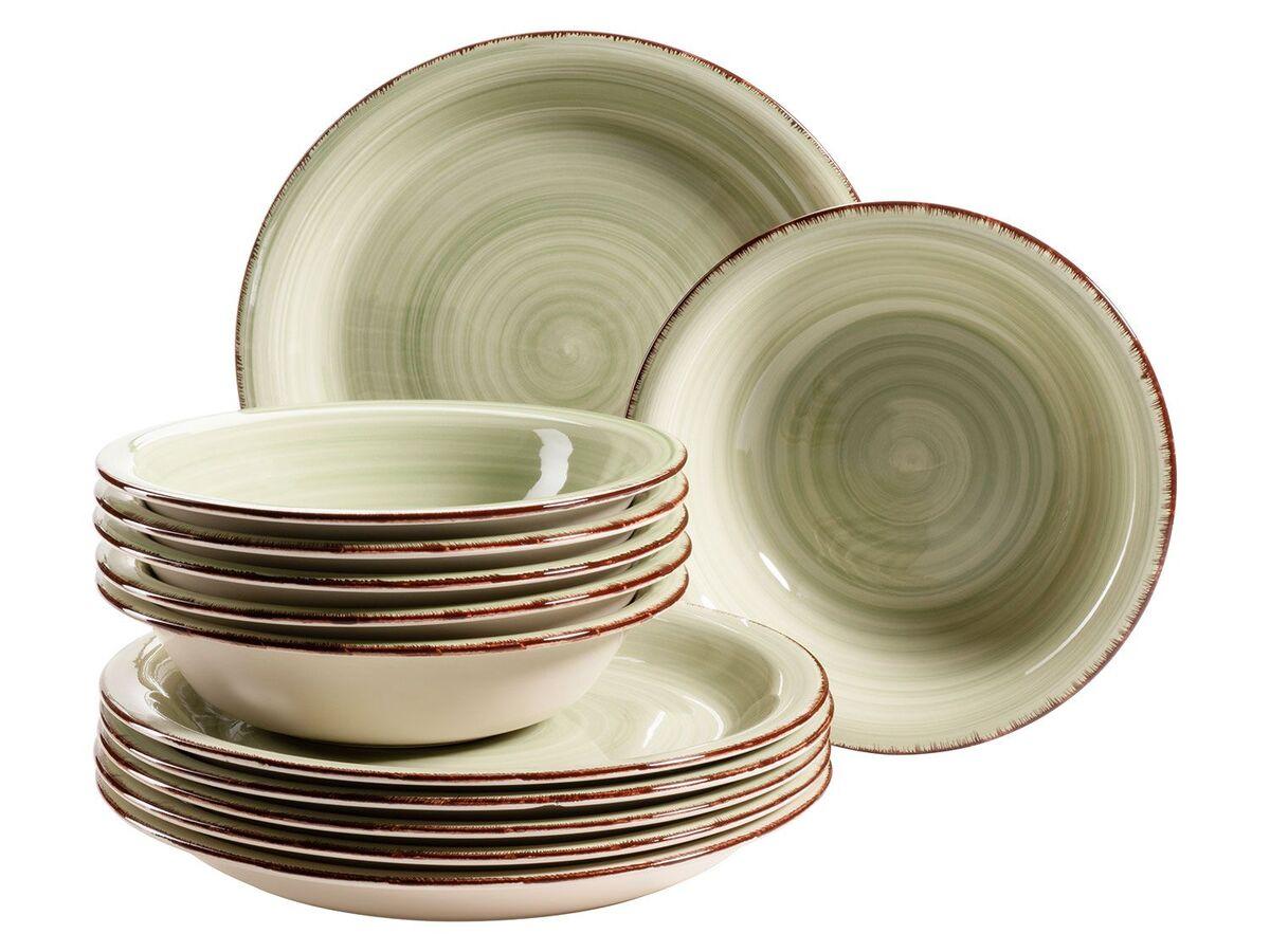 Bild 2 von MÄSER Serie Lumaca, Tafelservice 12-tlg, Keramik Geschirr-Set für 6 Personen