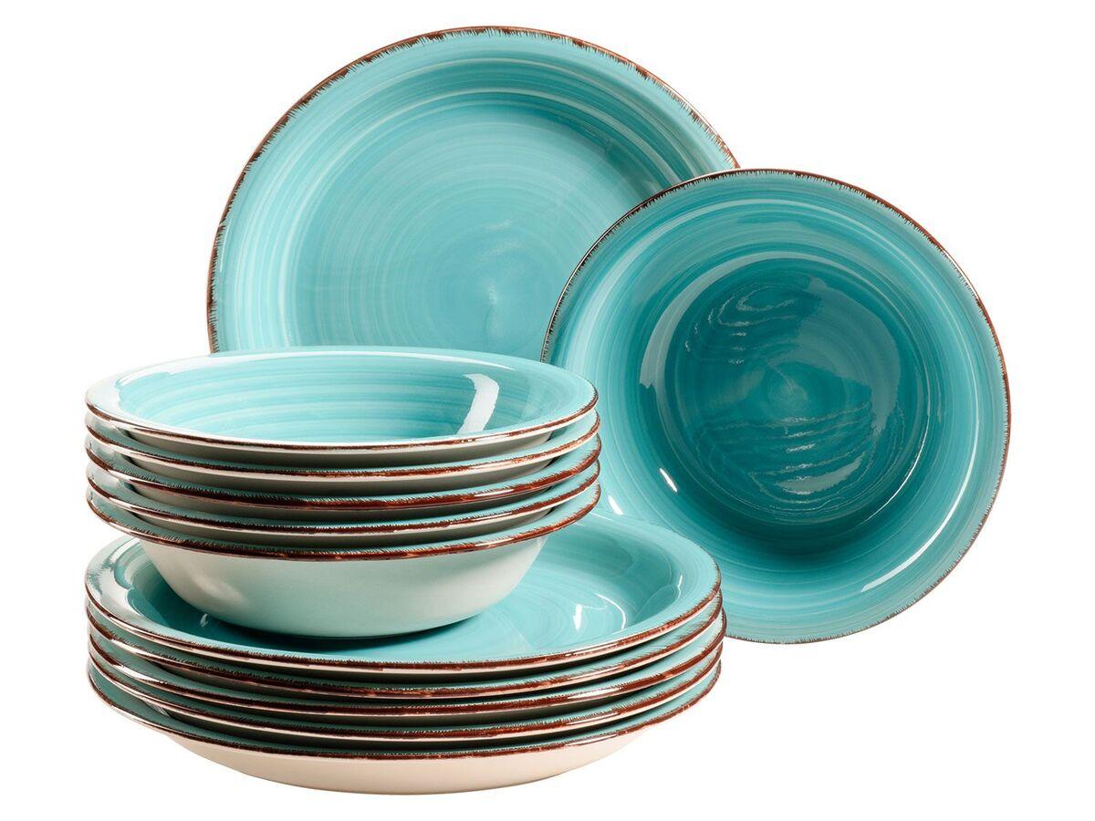 Bild 5 von MÄSER Serie Lumaca, Tafelservice 12-tlg, Keramik Geschirr-Set für 6 Personen