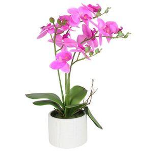 Künstliche Orchidee mit 4 Rispen Pink 42cm
