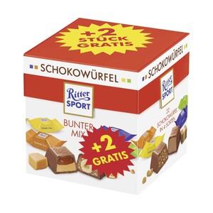 Ritter Sport Schokowürfel + 2 gratis versch. Sorten, jede 192-g-Packung
