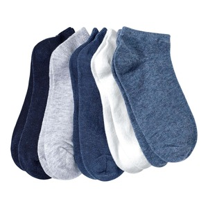 Kinder-Jungen-Sneaker-Socken in unterschiedlichen Farben, 5er Pack