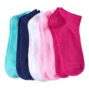 Kinder-Mädchen-Sneaker-Socken in verschiedenen Farben, 5er Pack