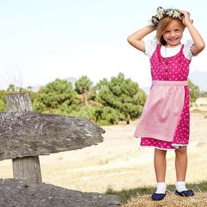 Kinder-Mädchen-Dirndl mit süßer Schürze