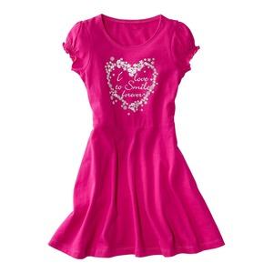 Kinder-Mädchen-Kleid mit süßem Herzaufdruck