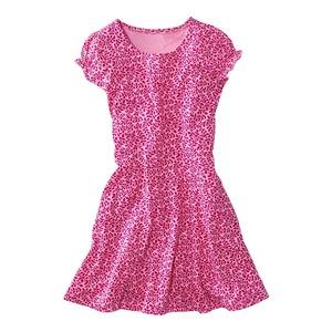 Kinder-Mädchen-Kleid mit floralem Muster