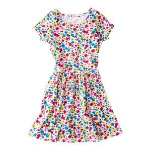 Kinder-Mädchen-Kleid mit buntem Blumenmuster