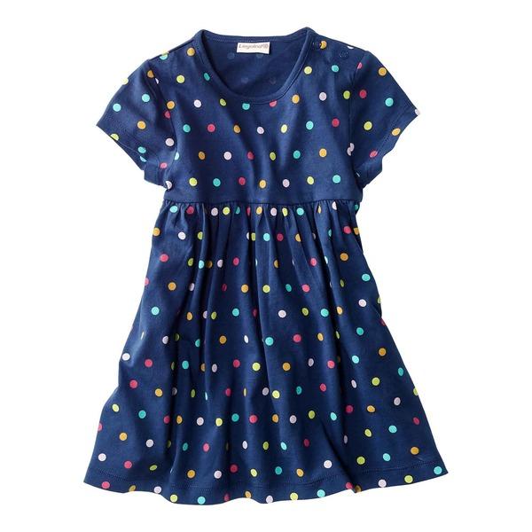 Baby-Mädchen-Kleid mit bunten Punkten