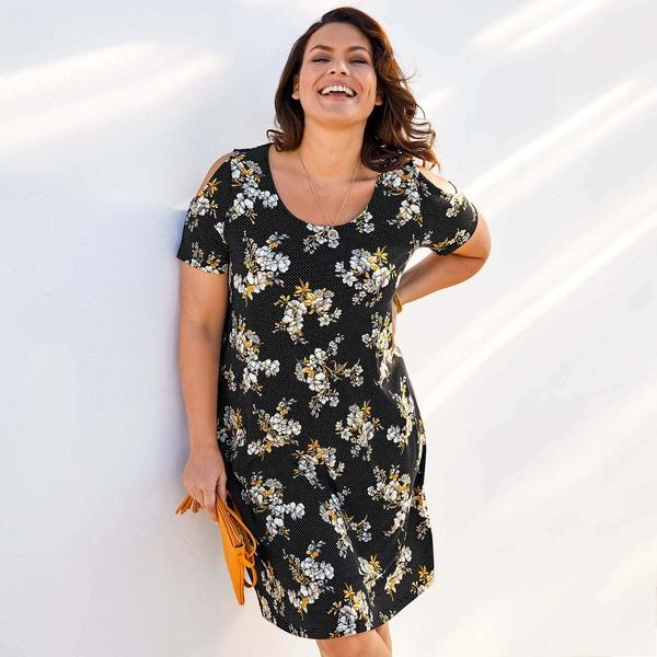 Damen-Kleid mit offener Schulter, große Größen von NKD ...