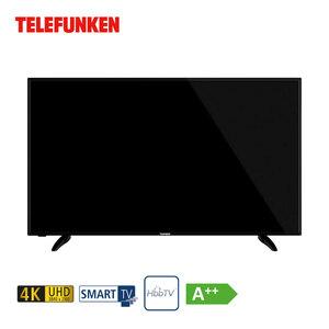 """D58U551N4CWH • 3 x HDMI, 2 x USB, CI+ • integr. Kabel-, Sat- und DVB-T2-Receiver • Maße: H 72 x B 124,3 x T 5,3 cm • Energie-Effizienz A++ (Spektrum A++ bis E) • Bildschirmdiagonale: 58""""/1"""