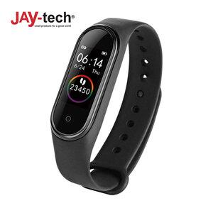 Fitness-Armband BT 4 · Sportmodus: Schrittzähler, Distanz, Kalorienverbrauch · Blutdrucksensor, Pulsmesser · Schlafüberwachung · Push-Up Benachrichtigungen und Anrufe vom Smartphone · Wasserdi