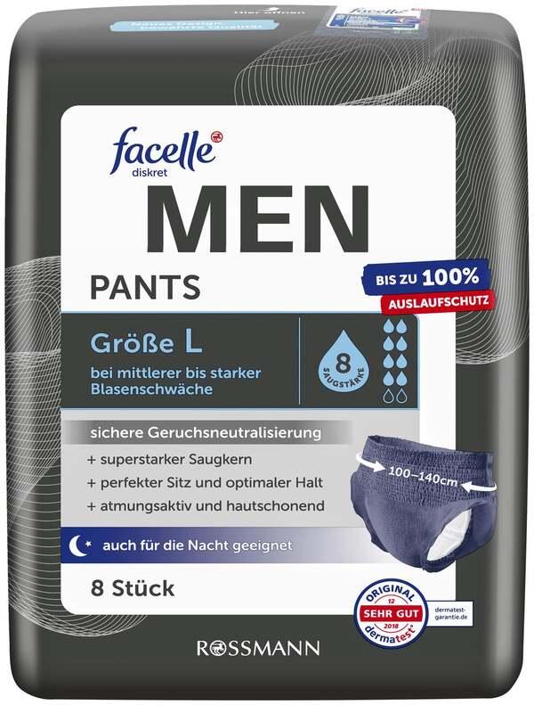 facelle diskret Hygiene Pants MEN Größe L