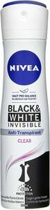 NIVEA Anti-Transpirant Spray Invisible for Black & White Clear