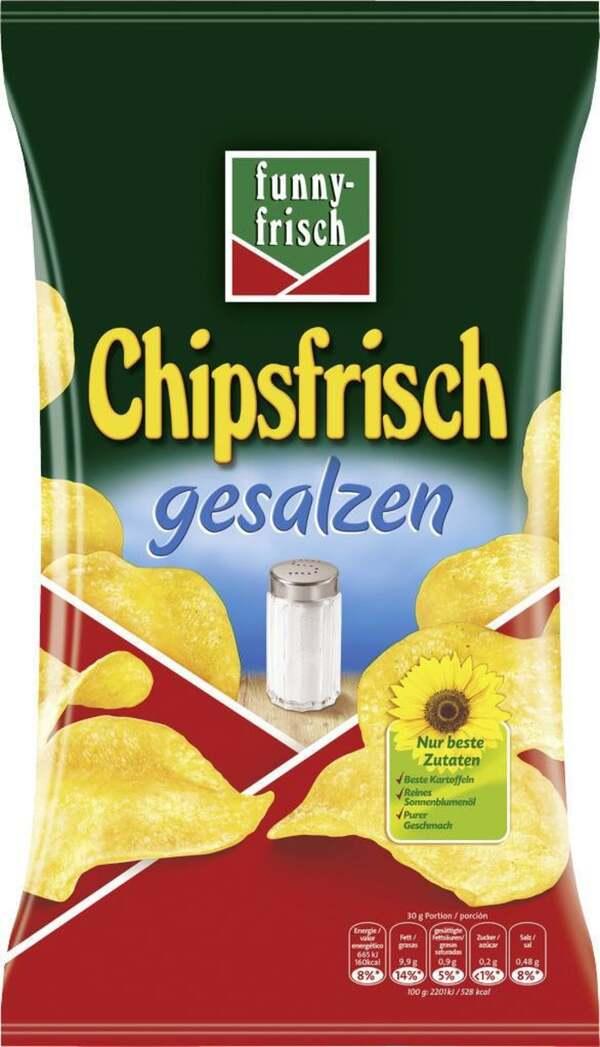funny-frisch Kartoffelchips gesalzen