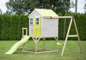 Wendi Toys Premium Spielhaus 350x330x242 cm lime