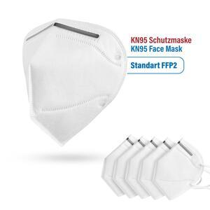 Schutzmaske FFP2 KN-95-Atemmaske mit verstellbarem Nasenclip 5 Stück Maske