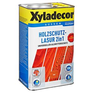 Xyladecor Holzschutzlasur 2in1 teakfarben 2,5 l