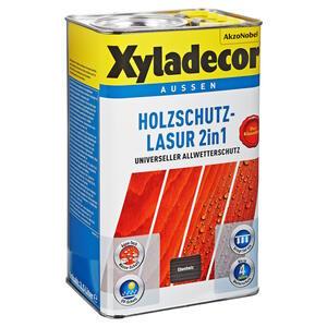 Xyladecor Holzschutzlasur 2in1 ebenholzfarben 2,5 l