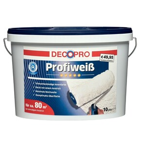 DecoPro Profiweiß 10 Liter matt
