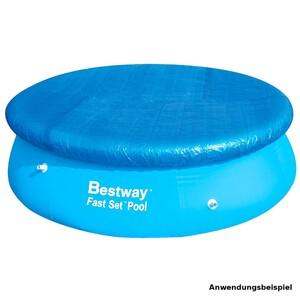 Bestway Poolabdeckung aus blauem PE für Pools mit 244 cm Durchmesser