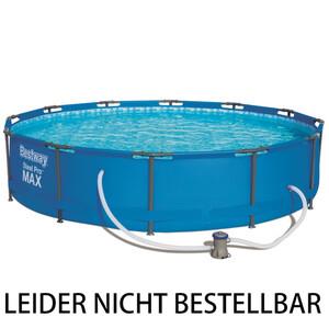 Bestway Pool-Set Steel Pro Max Frame-Pool rund