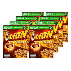 Nestle Lion Cereals 400 g, 8er Pack
