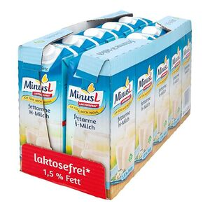 MinusL fettarme H-Milch 1,5% Fett 1 Liter, 10er Pack