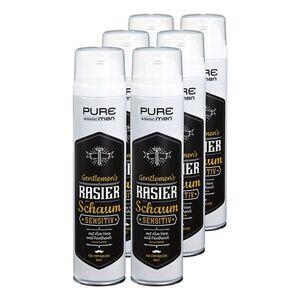 Pure & Basic men Rasierschaum sensitiv 300 ml, 6er Pack