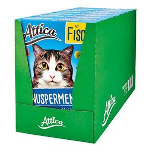 Attica Katzenfutter Knuspermenü Fisch 1 kg, 7er Pack