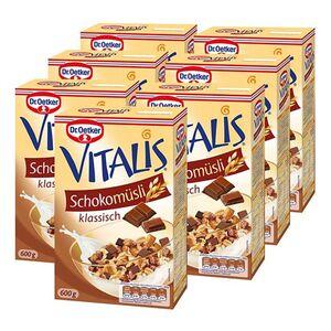 Dr. Oetker Vitalis Schoko Müsli 600 g, 7er Pack